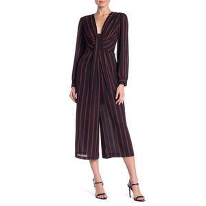 🚩Free Press Striped V-Neck Cropped Jumpsuit